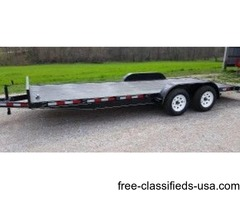 New 17' HD Model 20ft Flatbed w/ 5ft Ramps & Brakes