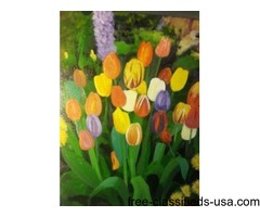 Oil paintings, suitable for framing but necessary.