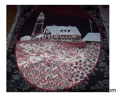 Heavy stiched lighthouse throw