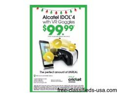Alcatel IDOL 4 with FREE VR Goggles at Cricket Wireless Livonia