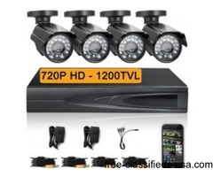 "55% Off Home/Business ""Outdoor"" 4 Camera Surveillance System"