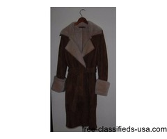 Shearling Coat/SUEDE - REDUCED PRICE