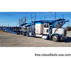 2014 Peterbilt 389 with CX9 Cottrell Car Trailer For Sale
