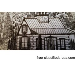 3 Beautiful log cabin shells for sale
