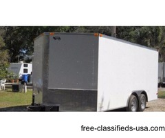 New trailers for sale! 8.5 ft. x16 Ramp Trike Hauler with D Rings
