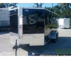 NEW 7 x16ft Motorcycle Hauler - Side Door , Rear Ramp Door