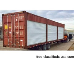 40 ft trailer with three 12 ft rolling doors