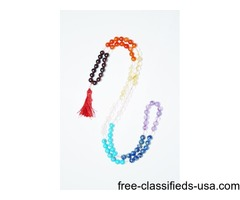 Chakra Mala Beads Tibet Buddhist Prayer Mala Necklace