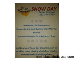 """Affordable Snow Removal/Plowing from """"Snow Day Snow Removal"""""""