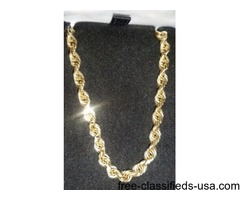 "20"" Rope 14 kt Gold Chain"