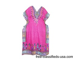 Hippie Caftan Boho Dashiki Cover Up Dress