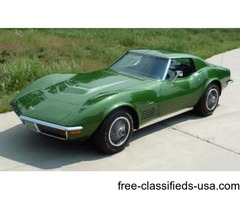 1972 Chevrolet Corvette LT1 Coupe with Air Conditioning For Sale