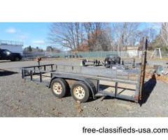 2000 16-FT LIMBURGER TRAIL-FLITE EQUIPMENT TRAILER