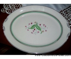 Oval Serving Platters two in Corabel Pattern by Syracuse U S A