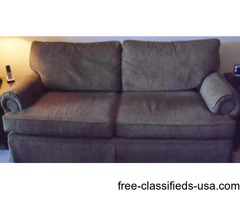 "Henredon tan/brown couch 80"" excellent"