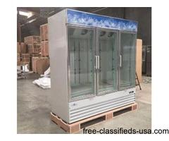 Merchandiser Freezer Refrigerator Glass Door Beer Cooler NSF | free-classifieds-usa.com