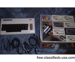 Commodore Vic 20 Computer with games and cords