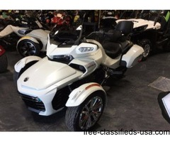 New 2016 Can-Am Spyder F3-T SE6 Motorcycle in White - $19999