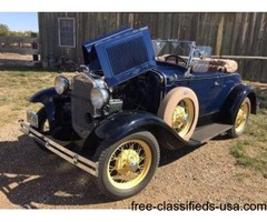 1930 Ford Model A Deluxe Roadster For Sale