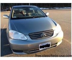 2003 Toyata Corolla LE in Excellent Condition Mileage 104000 for Sale