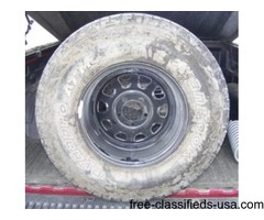 Tires mounted on rims for sale