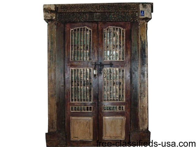 Vintage Indian Screen Doors Hand Carved Haveli Double Door - Vintage Indian Screen Doors Hand Carved Haveli Double Door - Home