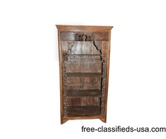Antique Bookcase Traditional Hand Carved Indian Furniture