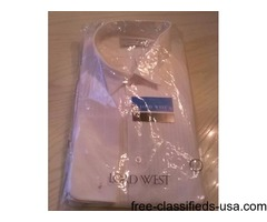 MEN'S WHITE WING COLLAR TUXEDO SHIRT-NEW