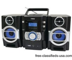 Naxa Portable Cd And Mp3 Player With Pll Fm Radio Detachable Speakers