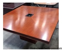 Beautiful Square Conference Tables by Bernhardt Furniture