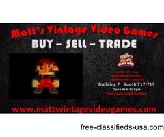 Matt's Vintage Video Games. SPECIALIZING IN RETRO