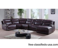 Home theater Sectional with Recliner Built-in
