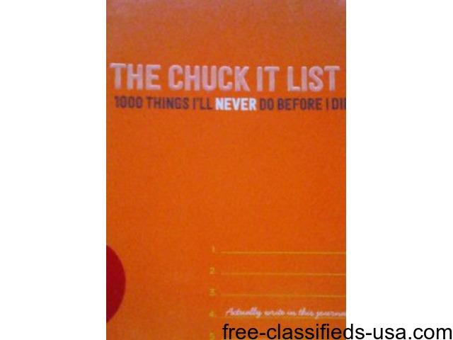 THE CHUCK IT LIST