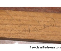 Rick Macleish's autograph-2x on hockey stick
