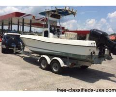 2000 22' Triton center console fishing boat - 225Hp outboard