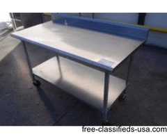 "60"" STAINLESS STEEL PREP TABLE"