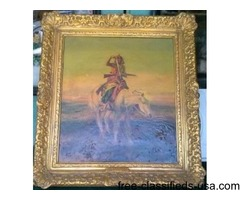 CHARLES M RUSSELL OIL PAINTING