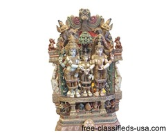 Indian Antique Sculpture Parvati kalyanam Temple Decor Statue