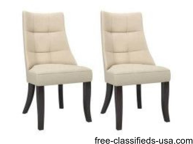 polyester dining accent chairs espresso cream home furniture