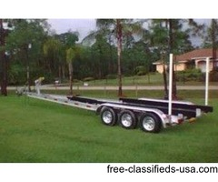 NEW BOAT TRAILER TRIPLE AXLE 18,000 LBS GVWR WITH ALL OPTIONS