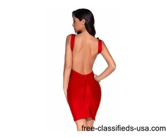 Lowcut Bandage Cocktail Dress