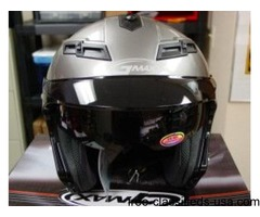 New GMAX X-Small Silver 3/4 Open Face Motorcycle Helmet w/ Face Shield