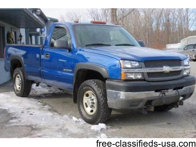 2004 Chevrolet Silverado 1500 Regular Cab >> 2004 Chevrolet Silverado 2500hd 2dr Regular Cab Work Truck