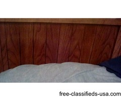 5 piece bedroom oak furniture w queen mattress