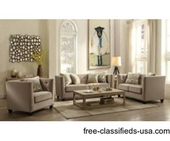 2Pcs Contemporary Fabric Sofa Set Loveseat - Juliana Collection