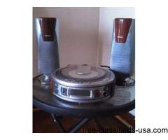 Compact disc with radio, alarm clock, speakers