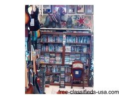 DVDS, CDS, GAMES, VINYL