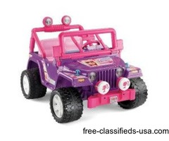 Barbie power wheels jeep