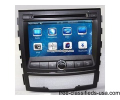 Ssangyong Korando Car DVD Player GPS Radio Stereo Video camera SWC