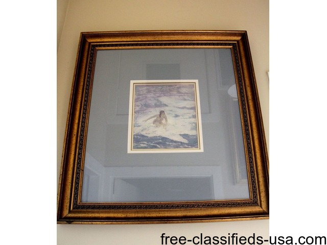 Norman lindsay watercolour bather full | free-classifieds-usa.com